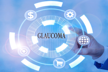 A graphic with glaucoma written at the center