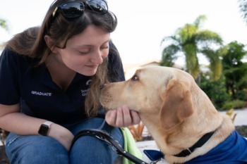 Picture Of Women With Guide Dog
